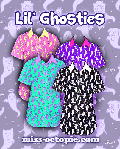 """""""Lil' Ghosties"""" Button-Up Shirt"""