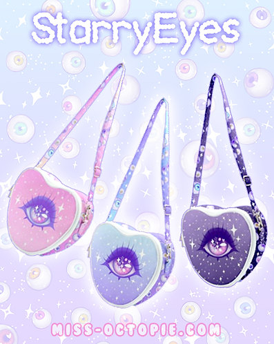 """Starry Eyes"" Heart Shoulder Bag"