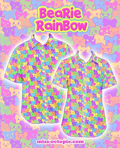 """""""Bearie Rainbow"""" Button-Up Shirt"""
