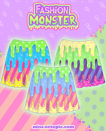 """Fashion Monster"" Drippy Skirt"