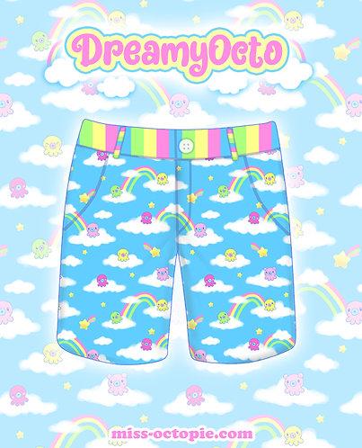 """DreamyOcto"" Zipper Long Shorts"
