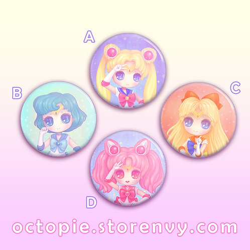"Sailor Scouts 1.5"" Button"