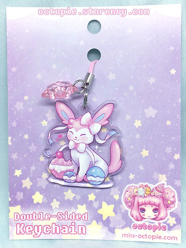 """Sylveon"" Keychain/Cell Phone/DS Charm"