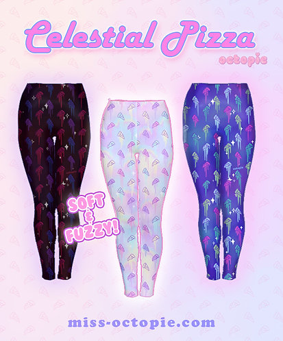 """Celestial Pizza"" Velvet Leggings"