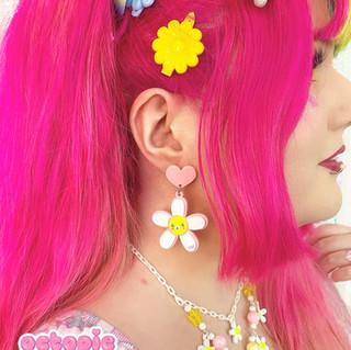"🌸 ""Daisy Cute"" White Earrings, Necklace"