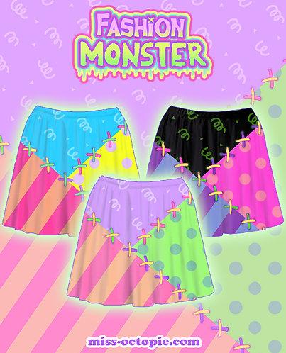 """""""Fashion Monster"""" Stitches Skirt"""