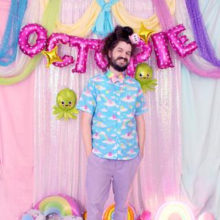 "🌈 ""DreamyOcto"" Button-up Shirt 🌈 Pink Decora Octopie hair accessory"