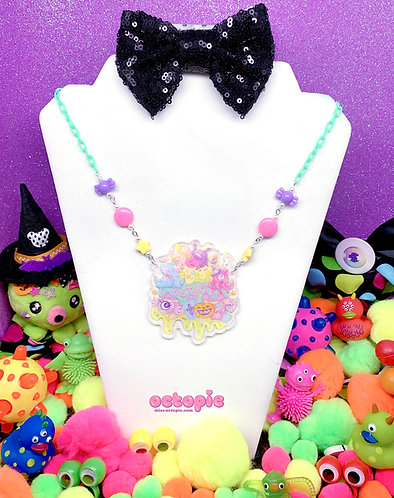 """""""Fashion Monster Cake"""" Holographic Large Necklace"""