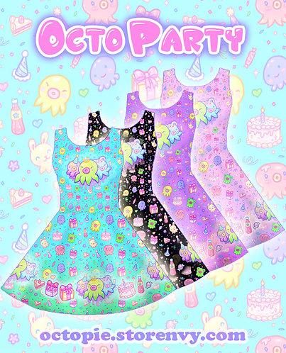 """""""OctoParty"""" Sleeveless Skater Dress"""