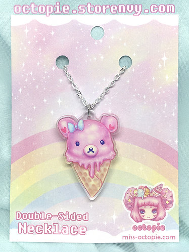 """""""Pink Bearcone"""" Small Necklace"""