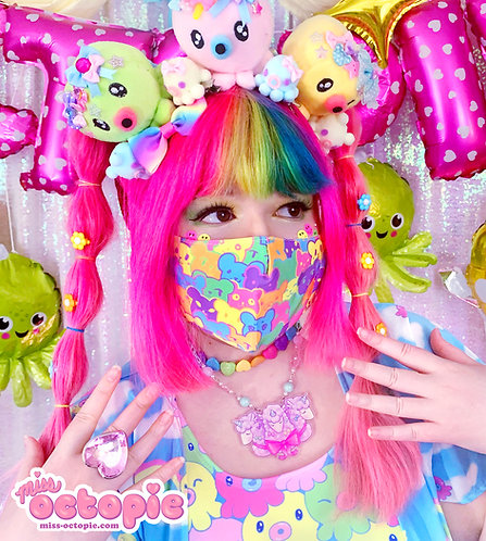 """""""Bearie Rainbow"""" Face Mask"""