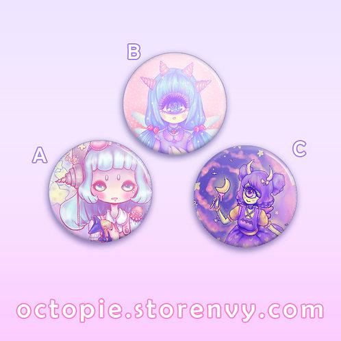 """Monster Girls 1.5"""" Button"""