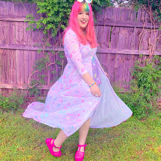 "🌸 Pink ""AlpacaCorn Fluff"" Chiffon Button-up Maxi Dress"