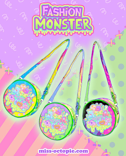"""Fashion Monster"" Round Shoulder Bag"