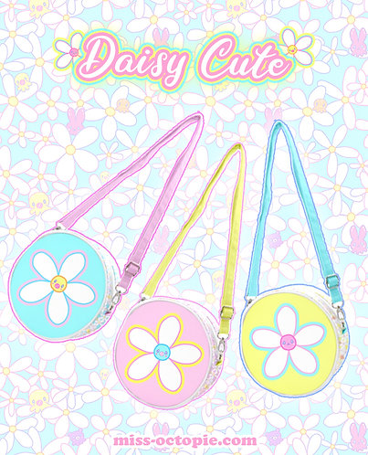 """Daisy Cute"" Round Shoulder Bag"