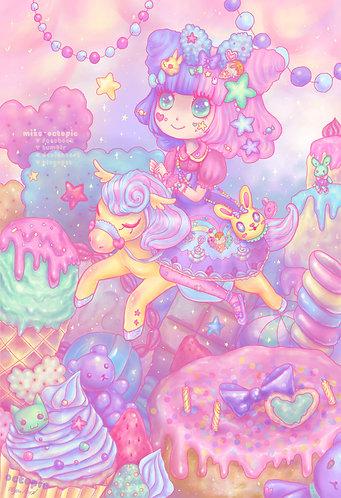 """Sweet Lolita Adventure"" Art Print"
