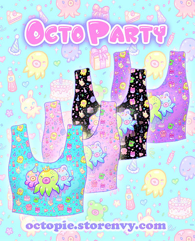 """OctoParty"" Crop Tank Top"