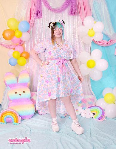 """""""Daisy Cute"""" Flutter Sleeve High-Low Dress"""