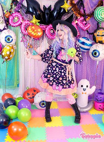 """""""Spooky Cutie"""" Kimono Dress"""