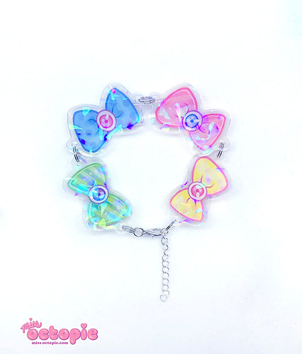 """Fashion Monster Bows"" Holographic Bracelet"