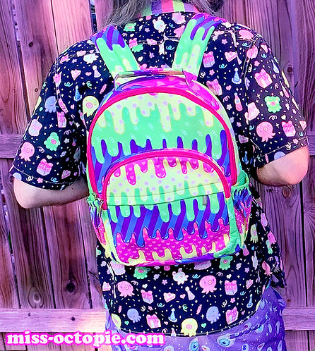 """""""Fashion Monster"""" Drippy Backpack"""