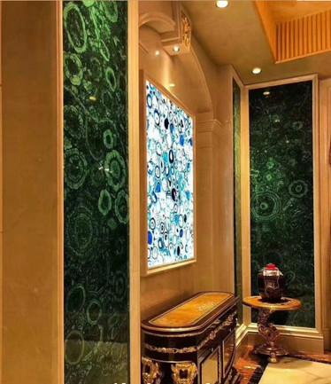 Rare Green Machalite Gemstone interior decoration