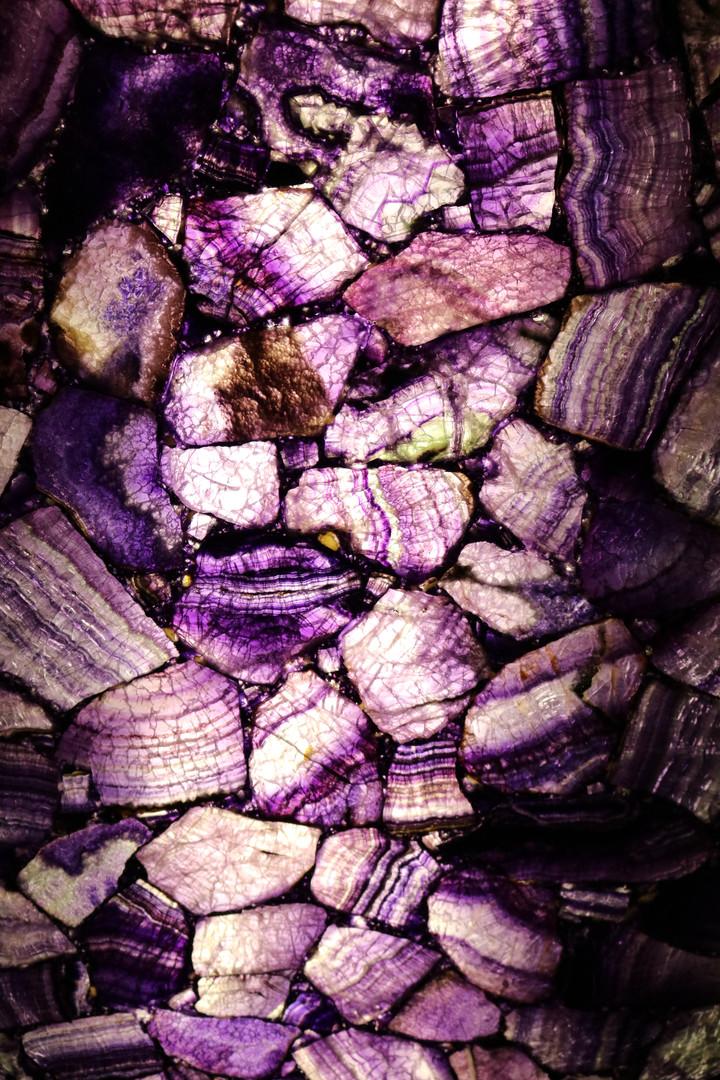 Backlit Purple Amethyst