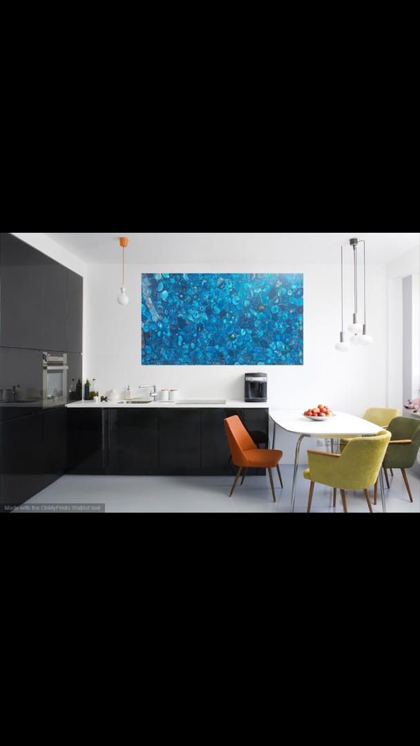 Backlit exotic Blue Gemstone