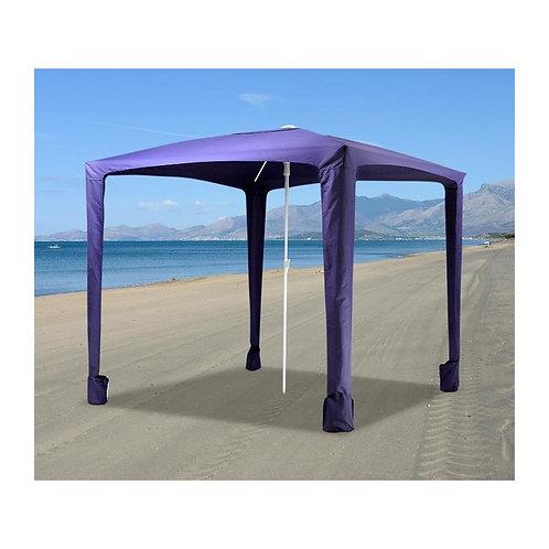 Ombrellone Gazebo Spiaggia acciaio/poliestere