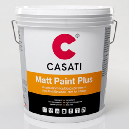 Idropittura Vinilica Traspirante CASATI Matt Paint Plus 14lt x interno