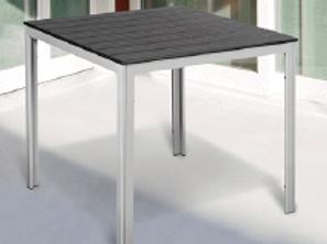 Tavolo Stintino quadrato 78x78x74h acciaio verniciato bianco