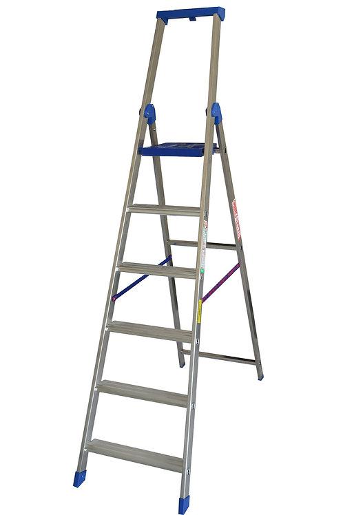 Scala in alluminio Marchetti Climb Evo 6 gradini mt 2,30