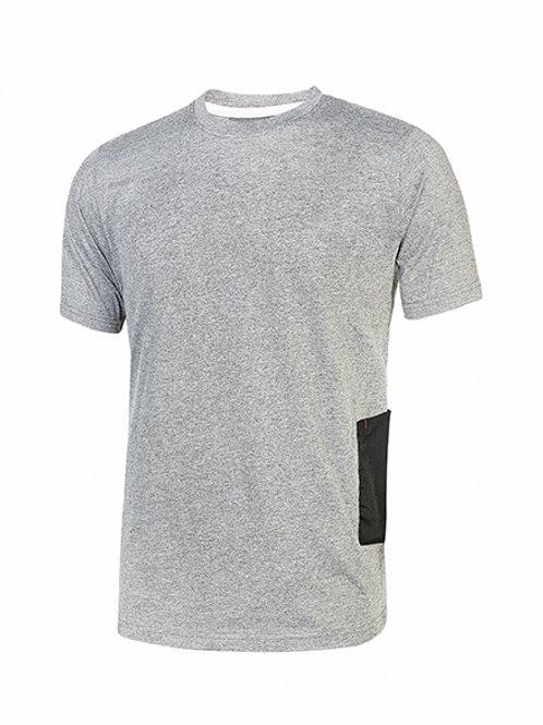 T-shirt Road U-Power grey silver