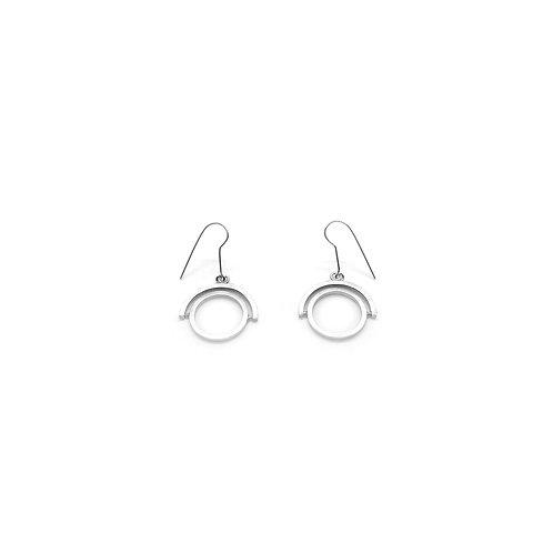 Boucles d'oreilles mobile rotatif