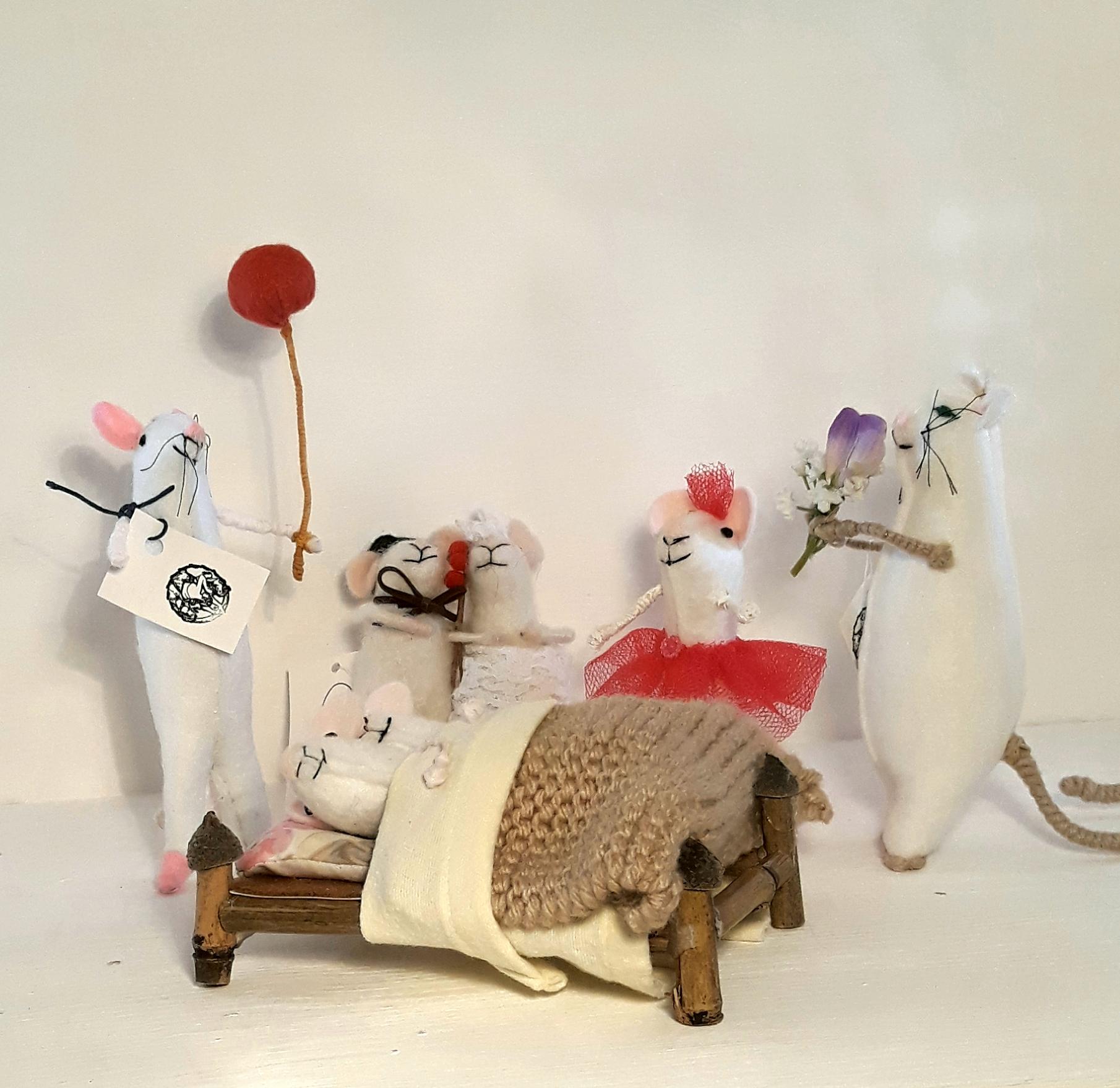 Handmade Felt Mice