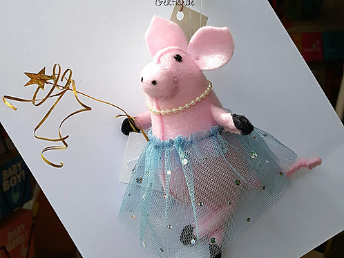 Hand Made Felt Pig