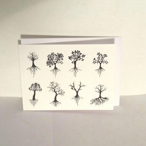 Set of 5 'Just a Note' Greetings Cards