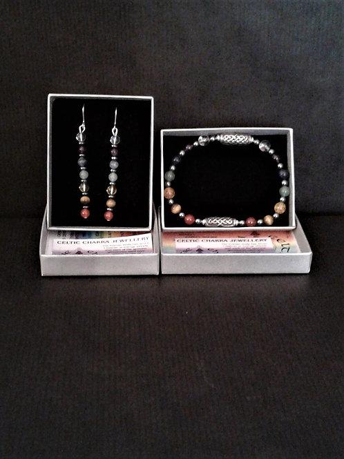 Handmade Celtic Chakra Earings