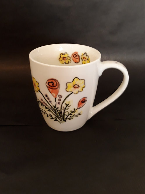 Hand Painted Porcelain Mug