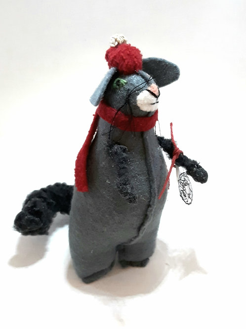 Cat with Hat and Scarf