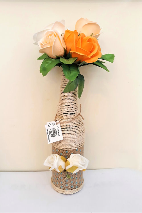 Decorative Bottle with Aromatic Soap Flowers