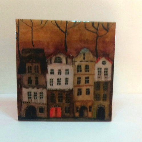 Ceramic Picture Tile - Town Collection