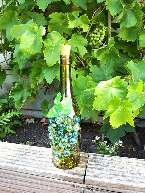 Led Light Bottle with Grapes