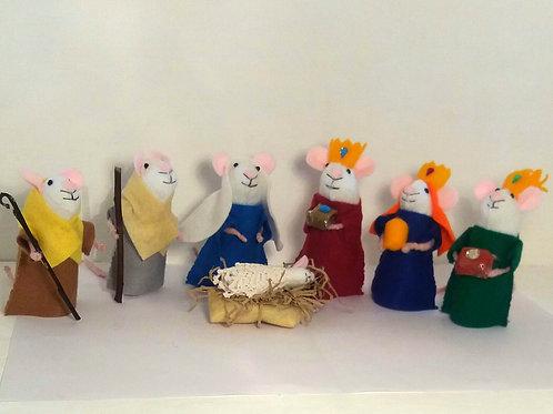 Felt Nativity Mice Set