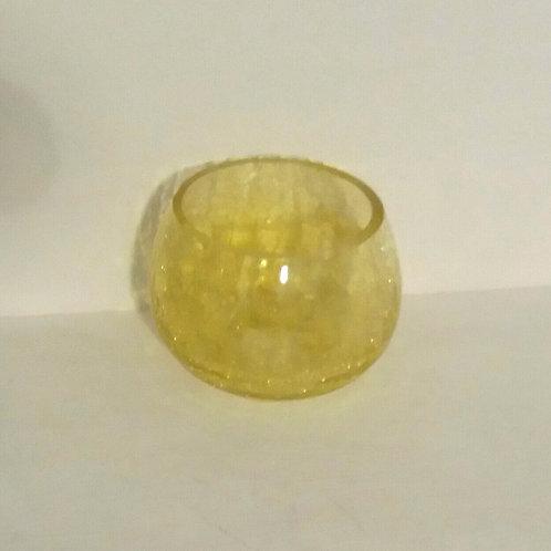 Crackled Glass Candle Holder