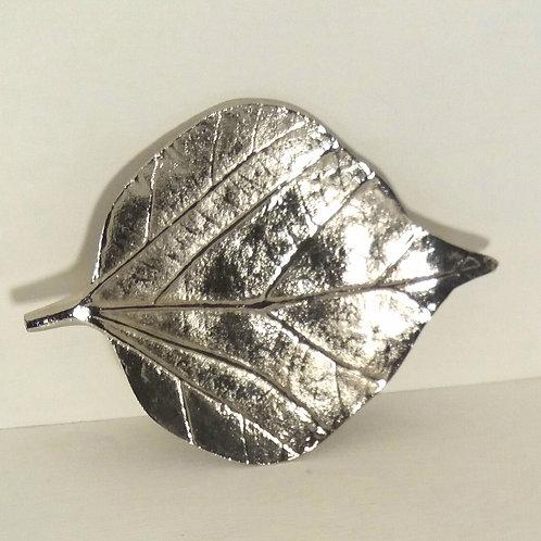 Raw Nickel Leaf Shape Bodhi Dish