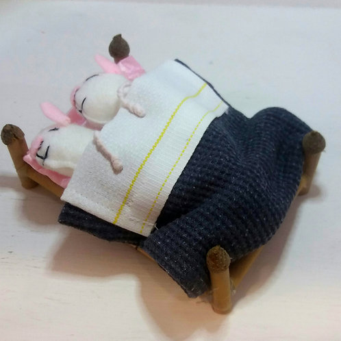 Mice in Bed with Sheet and Blanket