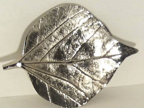 Raw Nickel Leaf Shape Bodhi Dish