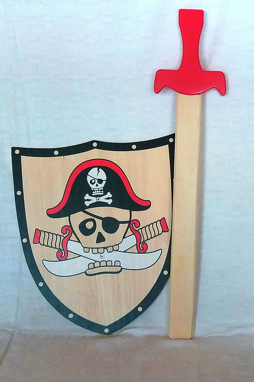 Pirate Shield and Sword