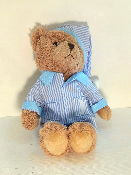 Blue Pyjama Bear Medium